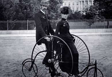 Two Victorian bicycles