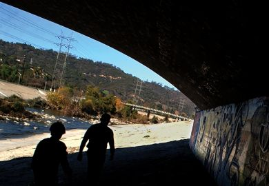 Graffiti along the Los Angeles River