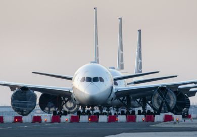 Warsaw, Poland -17032020 Airlines Coronavirus, LOT Polish Airlines Boeing 787's grounded at Warsaw chopin Airport due to the global pandemic