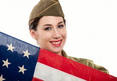 US woman in army uniform