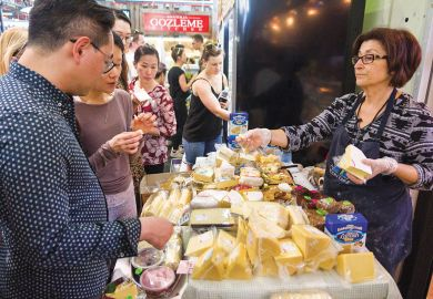 Cheese festival at Prahran Market Melbourne Australia.