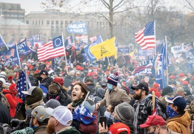Washington, USA, 06 January 2021. Supporters of President Donald J. Trump breach Capitol Hill during the certification of the electoral college's vote.