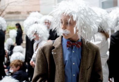 Children dressed as Einstein