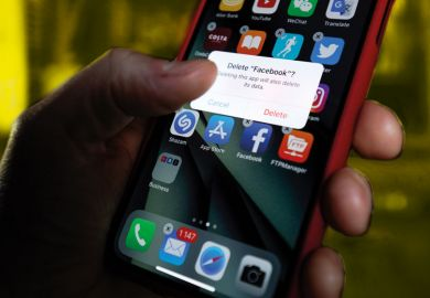 deleting facebook app from mobile phone