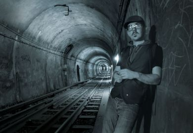 Bradley Garrett inside tunnel