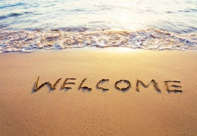Welcome on beach