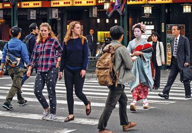 Western tourists in Japan