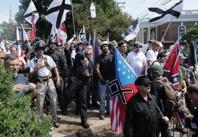 White nationalists in Charlottesville