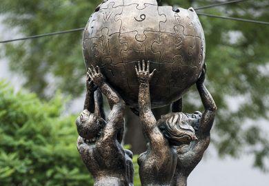 Wikipedia statue