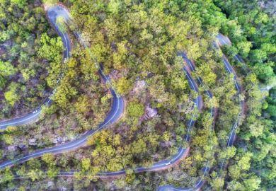 A winding road in Australia