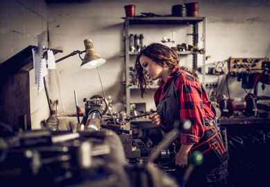Woman in workshop