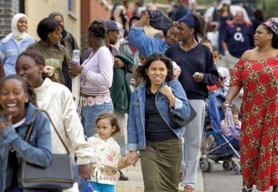 Women in a street