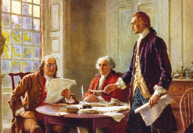 Writing the Declaration of Independence, 1776 by J. L. G. Ferris