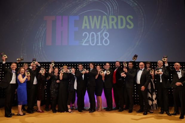 THE Awards winners 2018