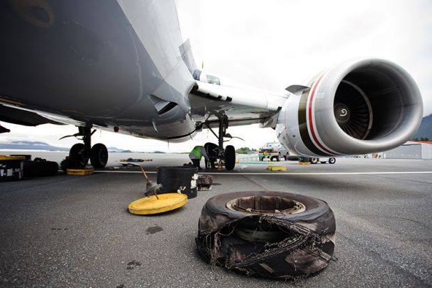 airplane tyre change