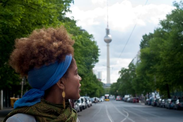 Woman abroad in Berlin