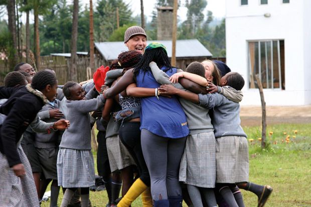 africa group hug