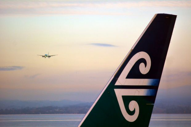 Air New Zealand planes in Auckland International Airport