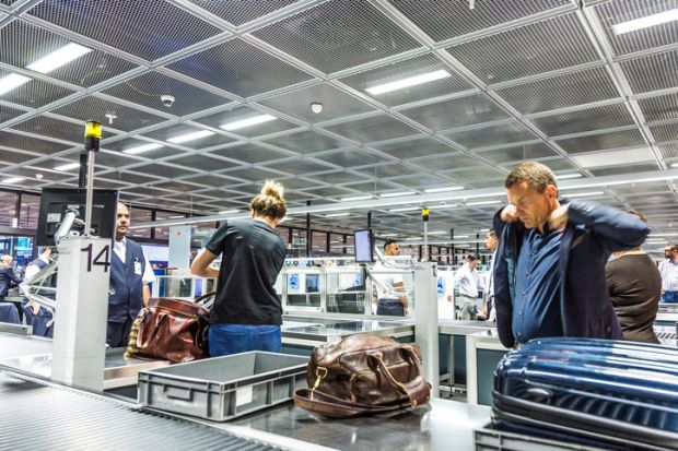 Airport security at Frankfurt airport