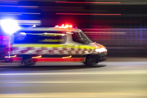 Ambulance on the Harbour Bridge, Sydney