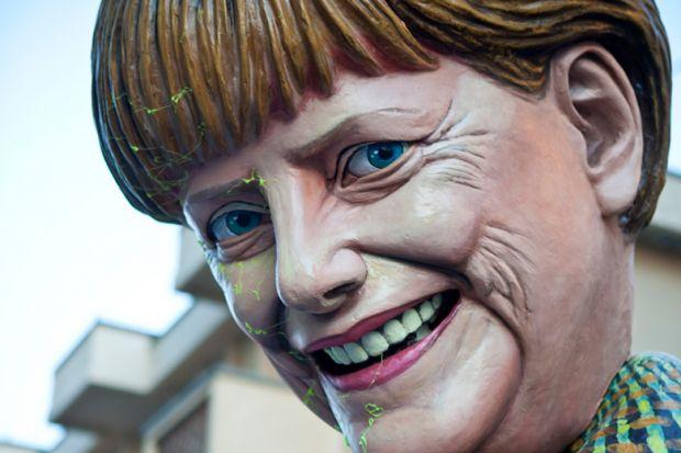 Angela Merkel effigy