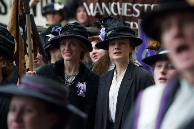 Anne-Marie Duff and Carey Mulligan in Suffragette