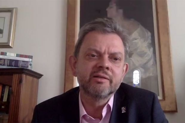 "Anton Muscatelli speaking during a Zoom conversation ""No going back? UK higher education post-pandemic"" 7th May 2020"