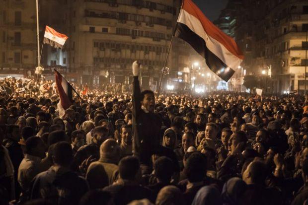 Protestors in Cairo's Tahrir square in 2011