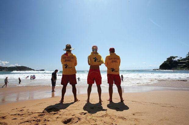 Life guards on an Australian beach