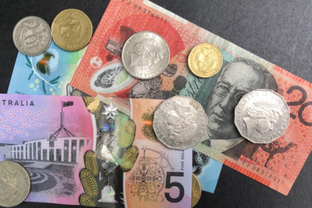 Australian cash money notes coins