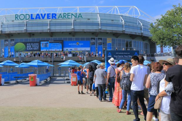 Australian Open queue