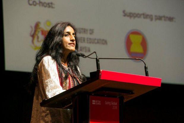 Ayesha Khanna speaks at Going Global 2018