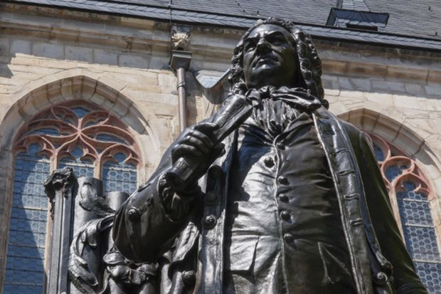 Bach statue in Leipzig