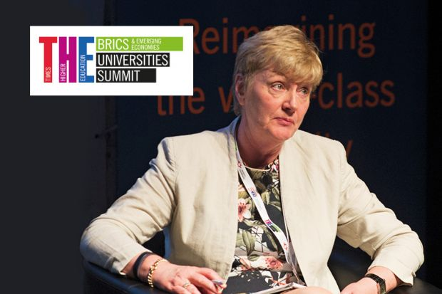 Bairbre Redmond speaking at THE BRICS & Emerging Economies Universties Summit