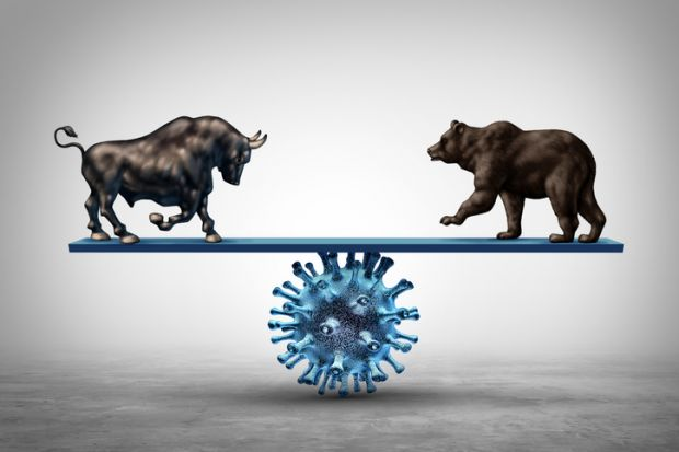 A bull and a bear on Covid scales