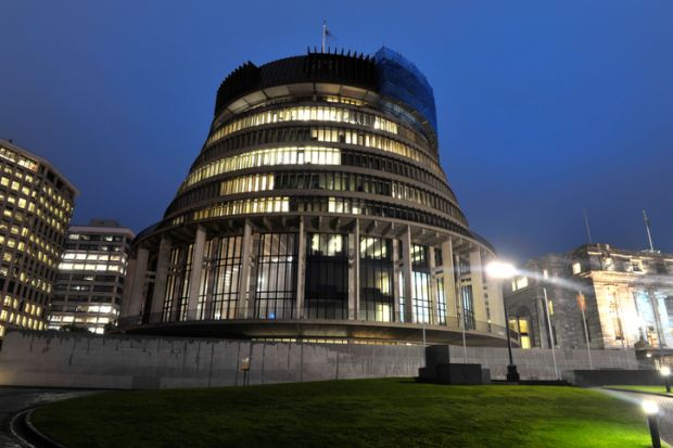 Beehive New Zealand parliament Wellington