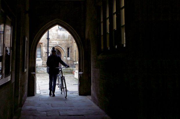 Bike in dark doorway