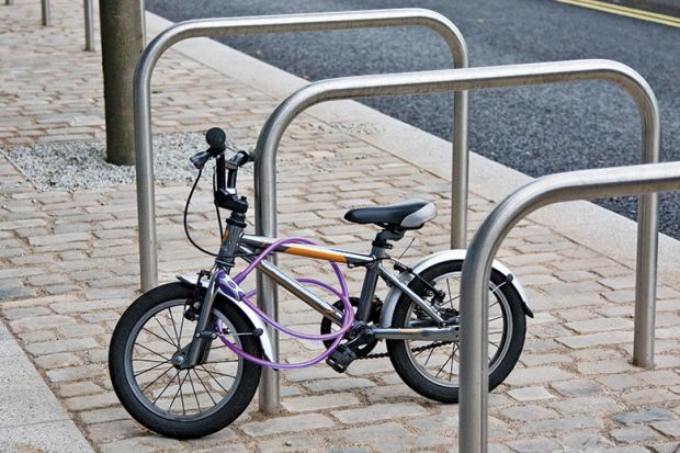 Bike on a railing