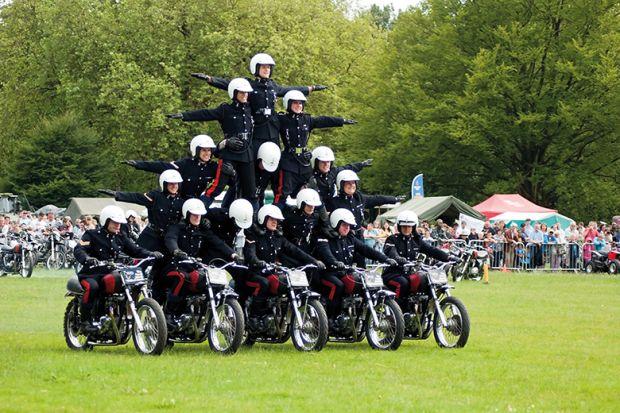 motorcycle pyramid