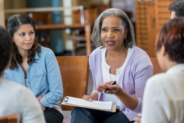 Black senior female academic