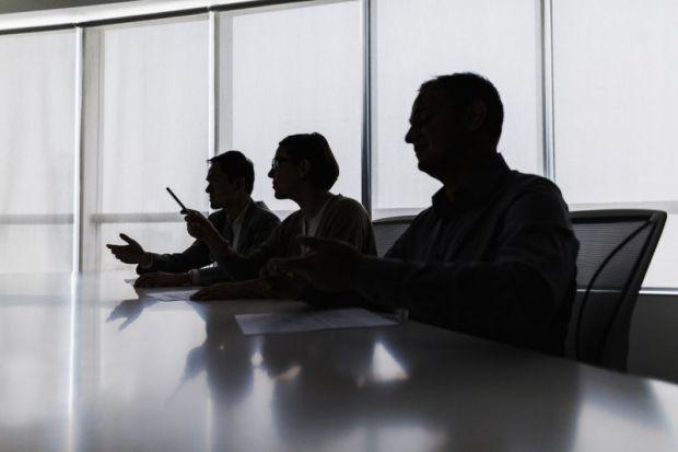 Board members in shadow