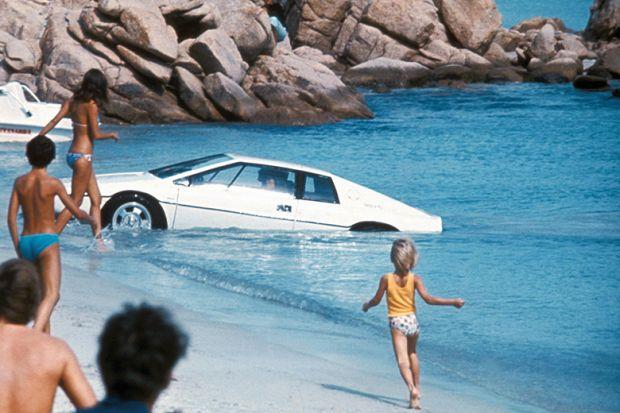 Bond car in the sea