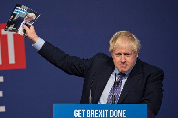 Boris Johnson at Conservatives' manifesto launch