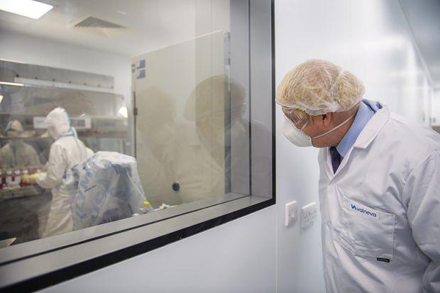 Boris Johnson wearing PPE
