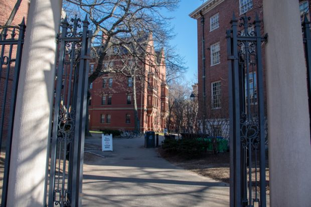 Boston, MS, USA, December 9th 2018-Harvard University was funded in 1636 and named after its first benefactor John Harvard