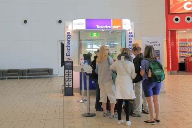 Brisbane airport currency exchange