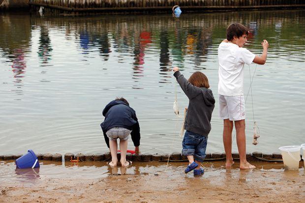 Three brothers fishing