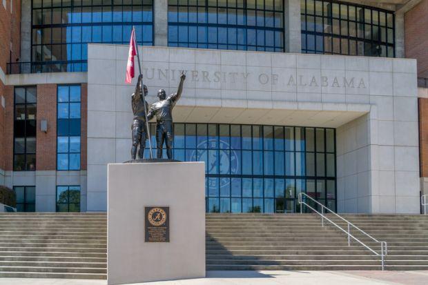 Bryant-Denny Stadium on the campus of University of Alabama