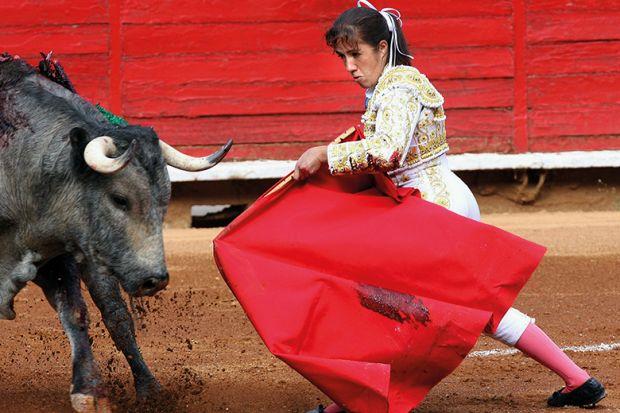 Female bull fighter