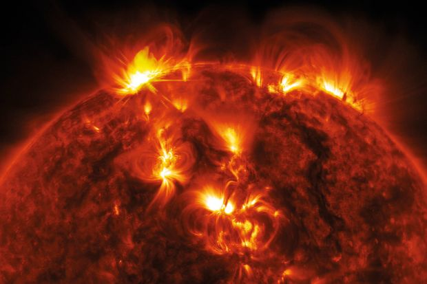 Burning surface of the sun